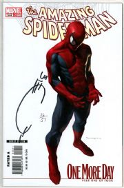 Amazing Spider-man #544 Variant Dynamic Forces Signed Joe Quesada COA Ltd 51 DF